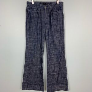 Joe's Jeans Blue Chambray Wide Leg Muse Pants